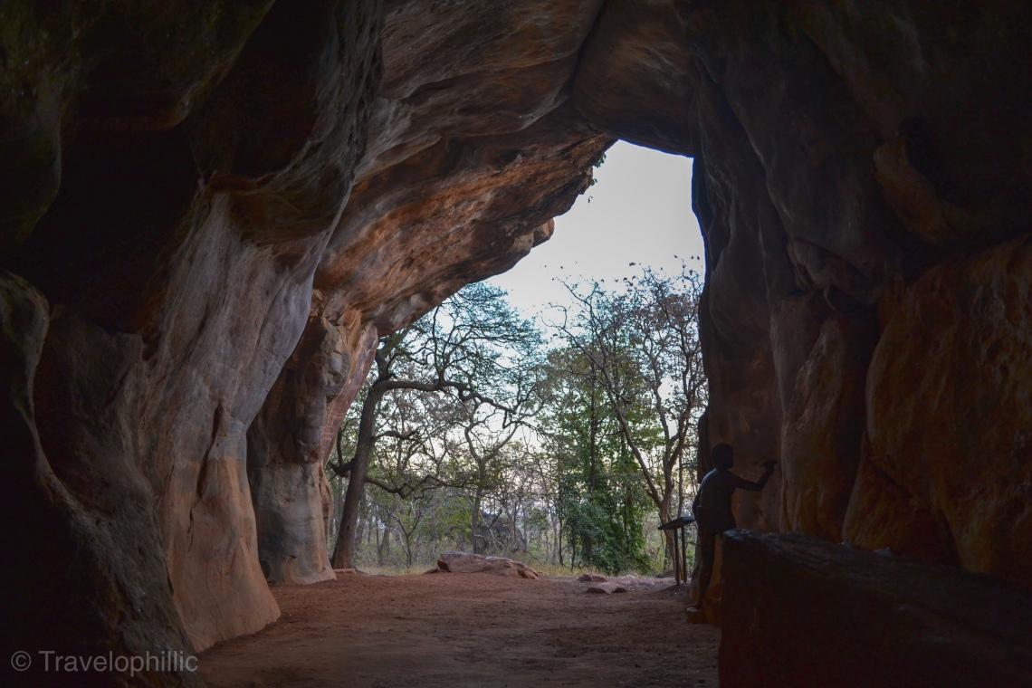 Auditorium cave in Bhimbetka